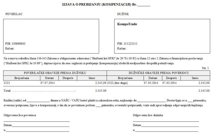 Predlog za dokumentaciju - Forma