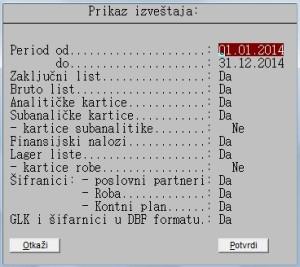 Sastavljanje PDF knjige izveštaja