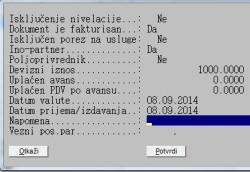 Dodatni parametri robnog dokumenta